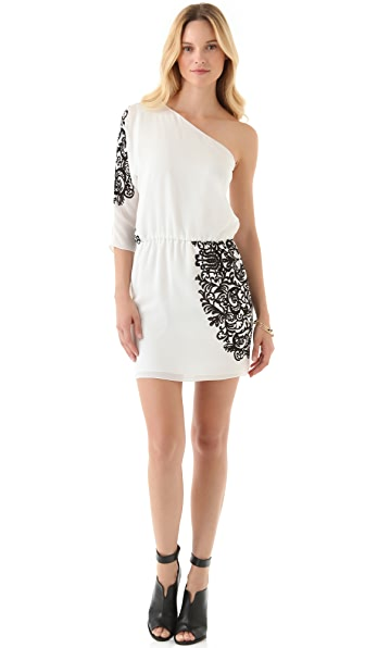 Tibi One Shoulder Evelyn Dress