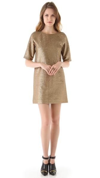 Tibi Pailette Jersey Easy Dress