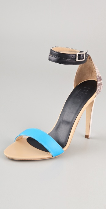 Tibi Amber Snake High Heel Sandals