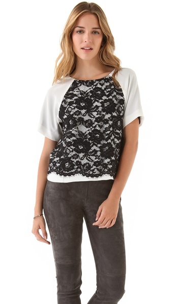 Tibi Lace Easy Top