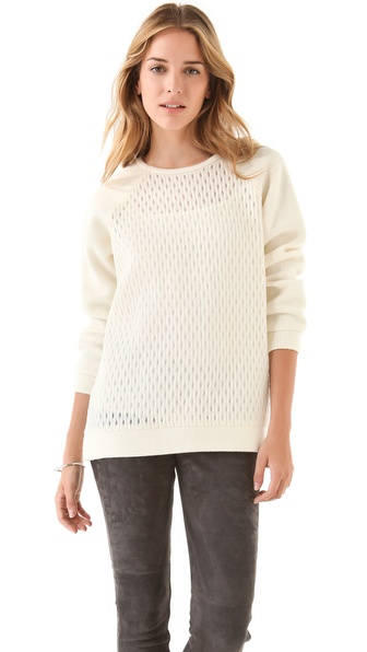 Tibi Tess Jacquard Sweater