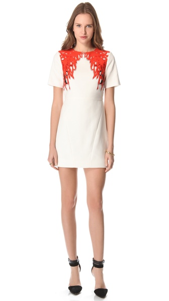 Tibi Coral Print Dress