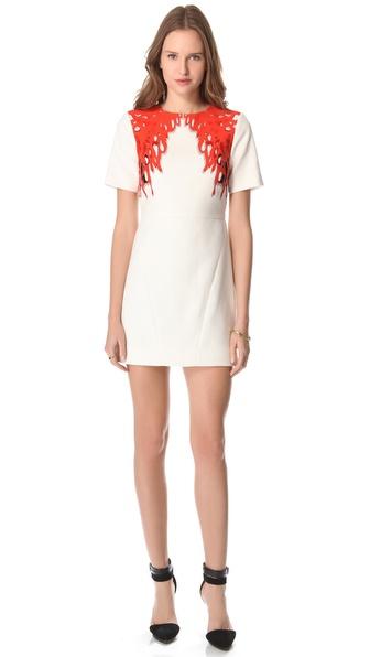 Tibi Coral Print Dress