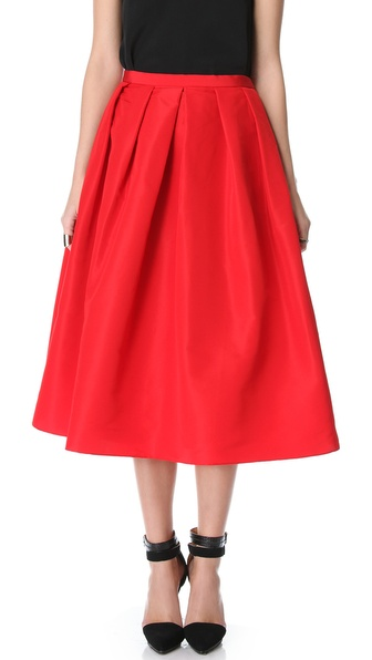Tibi Full Silk Skirt