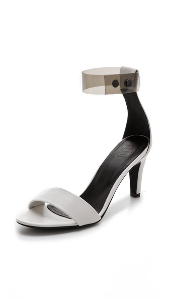 Tibi Clara Clear Strap Sandals