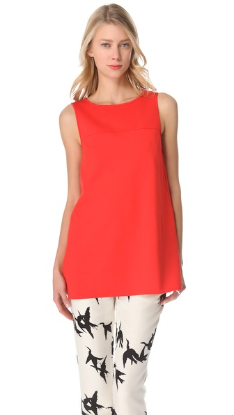 Tibi Ponte Sleeveless Top