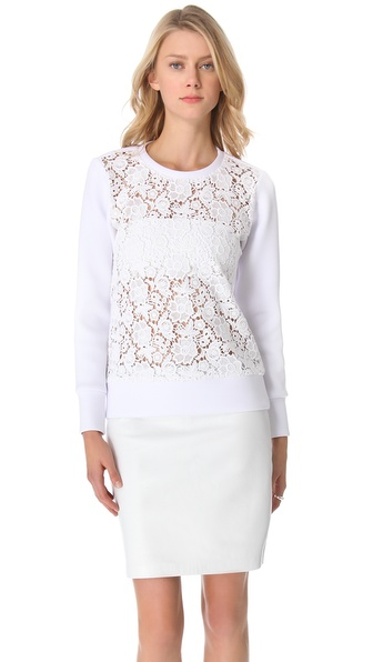 Tibi Sigrid Lace Sweatshirt