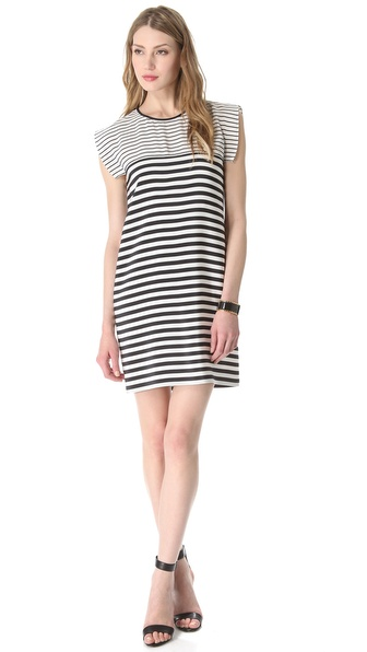 Tibi Claire Stripe Easy Dress