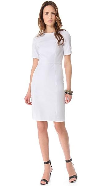 Tibi Paneled Short Sleeve Dress