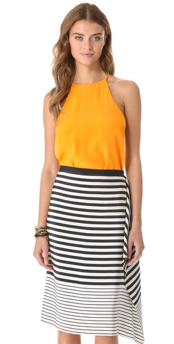 Shop Tibi Silk Halter Top and Tibi online - Apparel,Womens,Tops,Blouse, online Store