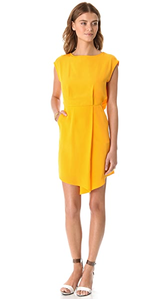 Tibi Drape Silk Dress