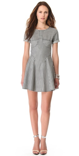 Tibi Striped Denim Dress