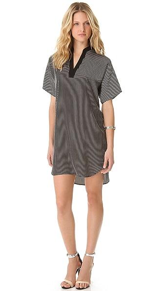 Tibi Stripe Tunic Dress