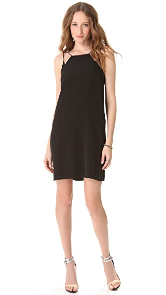 Tibi Heavy Silk Strappy Dress