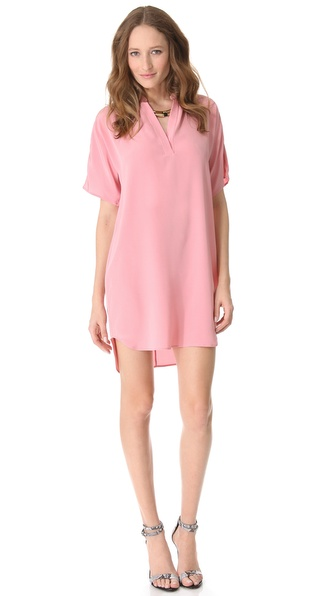Tibi Heavy Silk Tunic Dress