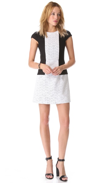 Tibi Carey Seamed Dress