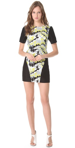 Tibi Isosceles Short Sleeve Dress