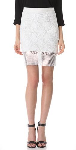 Tibi Basia Lace Pencil Skirt