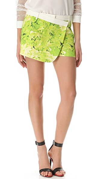 Tibi Daisies Draped Shorts