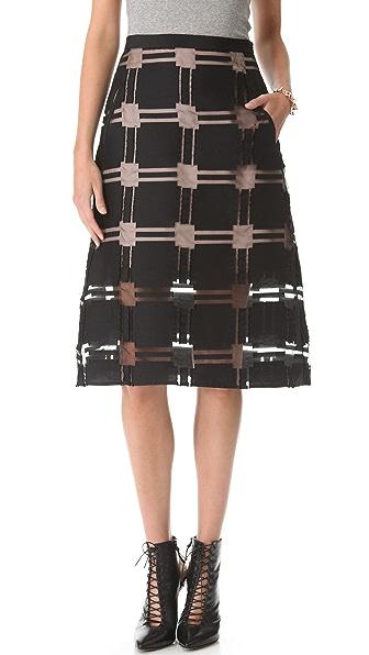 Tibi Organza A Line Skirt