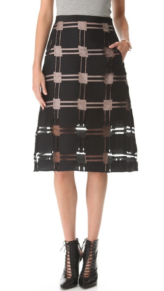 Tibi Organza A Line Skirt