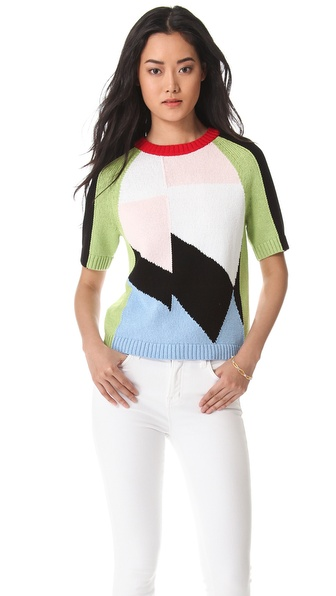 Tibi Isosceles Intarsia Sweater