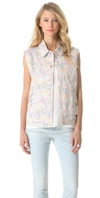 Tibi Potpourri Denim Vest