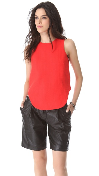 Tibi Basket Weave Tank