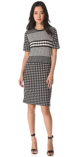 Tibi Alina Geo Dress