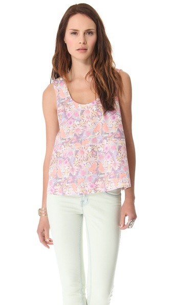 Tibi Potpourri Seamed Tank