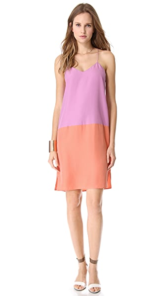 Tibi Colorblock Tank Dress
