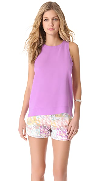 Tibi Alison Crepe Shell Top