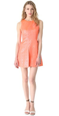 Tibi Lennox Jacquard Sleeveless Dress