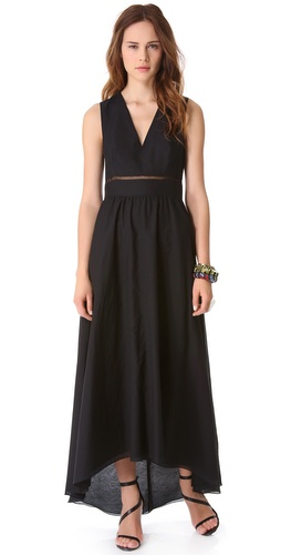 Tibi V Neck Long Dress