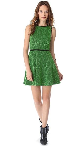 Tibi Tweed Knit Flared Dress