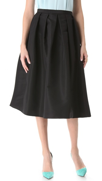 Tibi Silk Faille Skirt