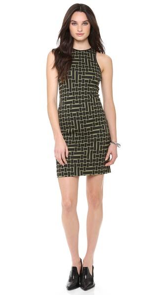 Tibi Cut in Square Knit Dress