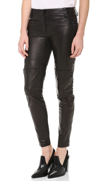 Tibi Paneled Leather Pants
