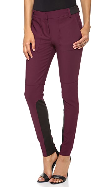Tibi Skinny Ribbed Pants