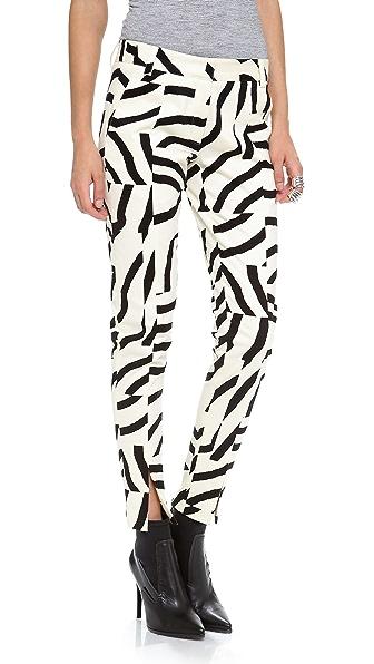 Tibi Slim Zebra Pants