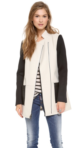Tibi Shearling Fencing Coat