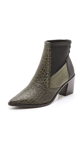 Tibi Spencer Stacked Heel Booties