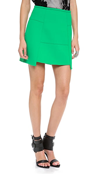 Tibi Bonded Techno Skirt