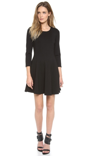 Tibi 3/4 Sleeve Ponte Dress