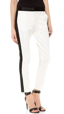 Tibi Satin Combo Zip Pants