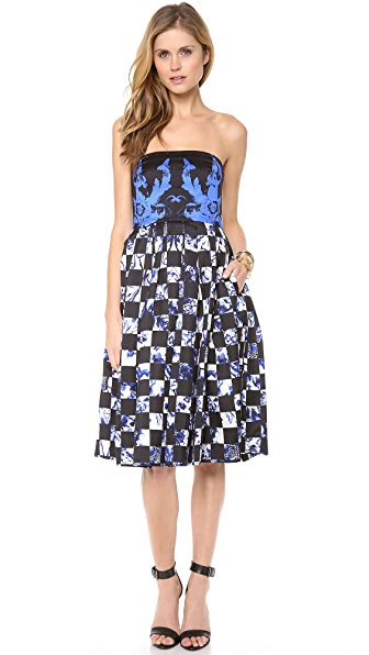 Tibi Rococo Check Statement Dress
