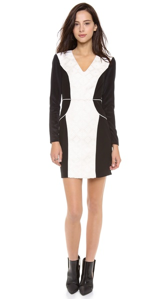 Tibi Embroidered Panel Dress