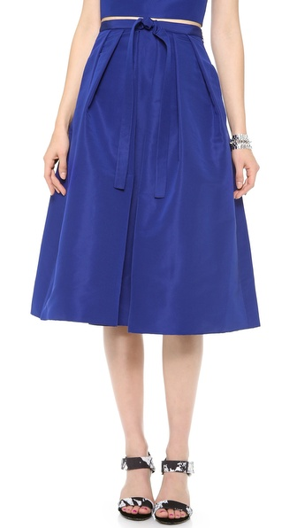 Tibi Faille Skirt