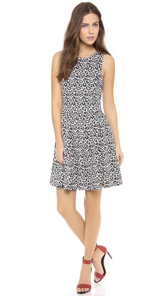 Tibi Sleeveless Leopard Dress
