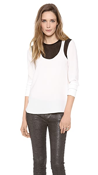 Tibi Long Sleeve Top